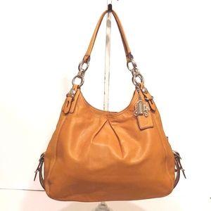 Coach Mia Tan Leather Shoulder Bag